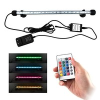 LED Aquarium Light, Smiful Fish Tank Light Submersible Underwater Crystal Glass 5050 LEDs Lights