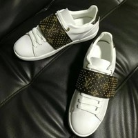 LV Louis Vuitton new tide brand female rivet Velcro casual sports shoes #1