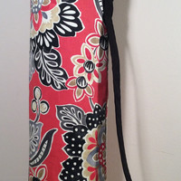 Handmade Yoga Mat Bag, Tote, Mat Carrier - Multi Color with Black Lining, Round Base, with Shoulder Strap and Drawstring
