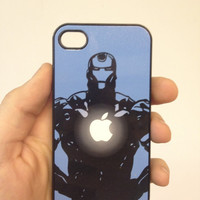 Iron Man Apple Chest iPhone 4/4s Black Case