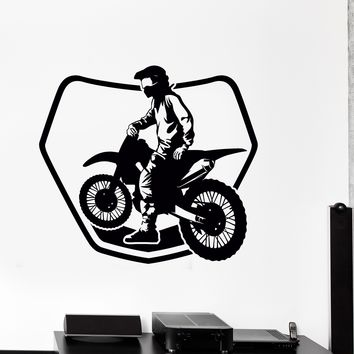 Wall Sticker Bike Biker Drive Speed Race Track Motorcycle Vinyl Decal Unique Gift (ed529)
