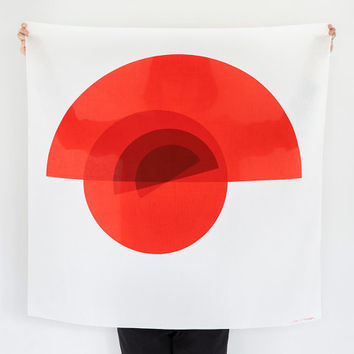Arcs Furoshiki. Japanese eco wrapping textile/scarf, handmade in Japan