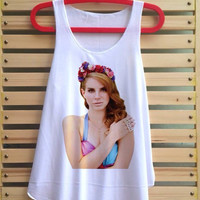 lana del rey shirt born to die tank top ultraviolence singlet clothing vest tee tunic vintage style - size S M