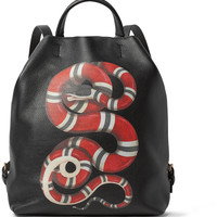 Gucci - Printed Full-Grain Leather Convertible Bag