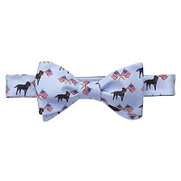 Labs & Flags Bow Tie in Blue by Southern Proper
