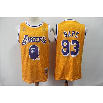 A Bathing Ape 93 x Lakers Swingman Jersey