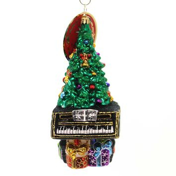 Christopher Radko TREETOP CONCERTO Glass Piano Tree Ornament 1019291