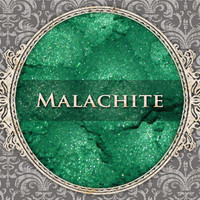 MALACHITE Mineral Eyeshadow: 5g Sifter Jar, Cool True Green, VEGAN Cosmetics, Shimmer Eye Shadow