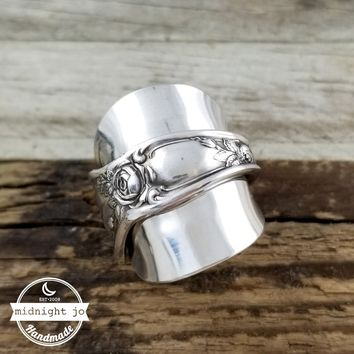 Rose Demitasse Spoon Ring