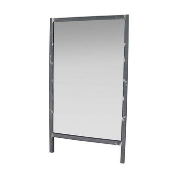 Pre-owned Full Height Wall Leaning Steel Frame Mirror