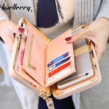 2017 Hot Sale PursNew arrival fashion wallets women long design cute Bowknot large capacity lunch box ladies wallet purse clutch