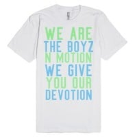 More Boyz in Motion-Unisex White T-Shirt