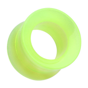 Glow in the Dark Acrylic Double Flared Ear Gauge Tunnel Plug
