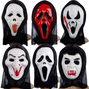 Freeshipping terrible Halloween mask props single devil mask skull 10pcs/lot