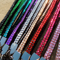 Bling Lanyard, Badge Holder, ID Holder, Rhinestone Lanyard, Keychain