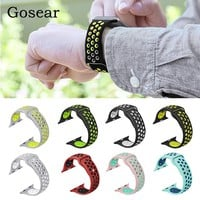 Gosear Silicone Breathable Watchband Watch Wrist Band Strap for Apple Watch iWatch i Wach iWach Series 1 2 38mm 42mm Gadget