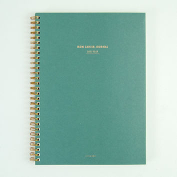 Mon Cahier Large Daily Planner Moss