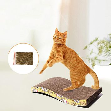 Pet Cat Kitten Scratching Board with Catnip Scratcher Interactive Training Toy