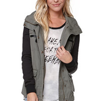 LA Hearts Fleece Sleeve Military Jacket at PacSun.com