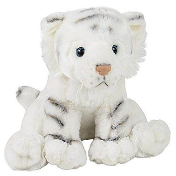 "Wildlife Tree 11"" White Tiger Stuffed Animal Plush Floppy Zoo Animal Den Collection"