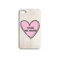Future Mrs Austin Mahone Cute Pink Heart Phone Case iPhone Girly Girl Music