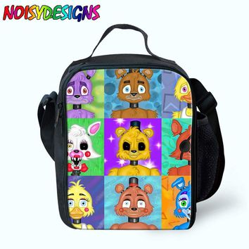 Five Night At Freddy Lunch Bags For Women Kids  World School Picnic Boy Girls Insulated Termica Food Cooler Bag ping