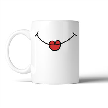 Cartoon Lips Mug Mug Gift Idea For Cat Lover Cute Ceramic Mugs