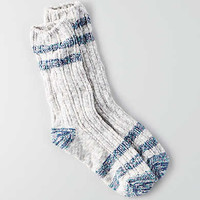 AEO Striped Crew Socks , Blue