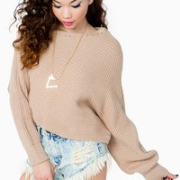 Asymmetrical Off Shoulder Sweater
