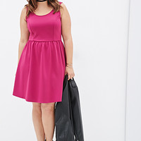 Fit & Flare Scuba Knit Dress