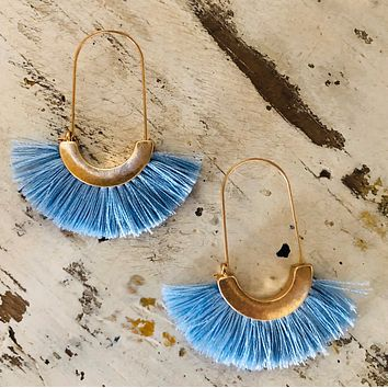 See you Move Earrings, Blue