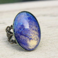Fire and Ice galaxy ring