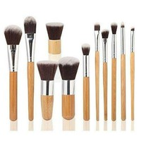 11PC Pro Contour Makeup Bamboo Brush Set