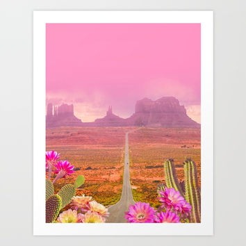 Road landscape Art Print by 2lips