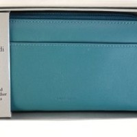 Mundi Handcrafted Leather Wallet for Women #MUN400 (Blue)