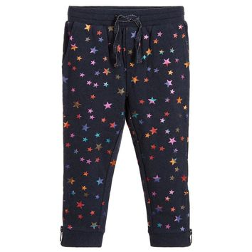 Stella McCartney Girls Metallic Star Sweatpants