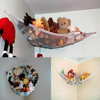 Corner Hammock For Stuffed Animals, Toy Net Hammock For Kids