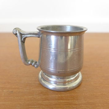 Towle-Cromwell 2 ounce tiny pewter mug from Sheffield, England