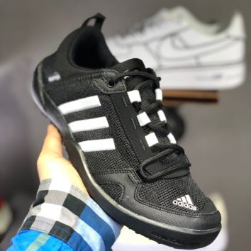 hcxx A1498 Adidas Climacool Daroga Two 3 Retro Hollow Wading shoes Black