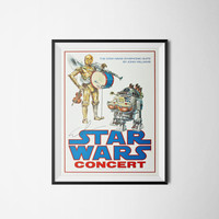 Star Wars Concert Poster, Vintage Movie Poster, Digital Download, 300dpi