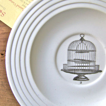 Shabby Cottage Antique Birdcage graphic  on Porcelain by SweetMeas