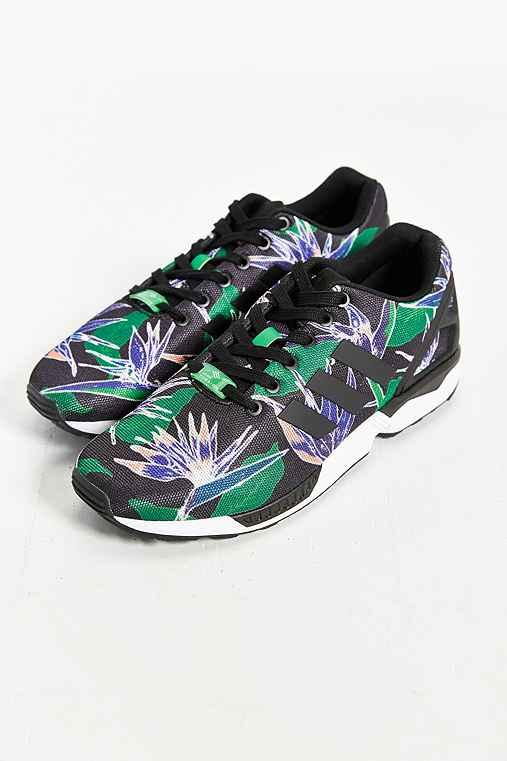 Adidas originals zx flux floral print from urban outfitters for Adidas floral shirt urban outfitters