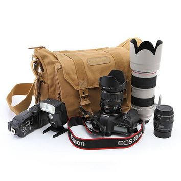 Professional DSLR Canvas Camera Bag Travel