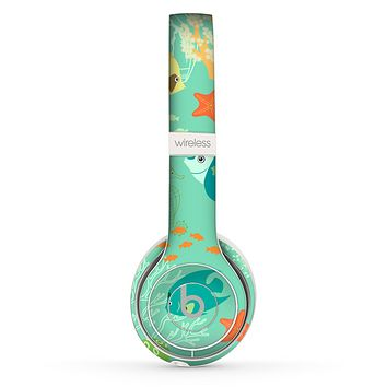 The Colorful Bright Saltwater Fish Skin Set for the Beats by Dre Solo 2 Wireless Headphones