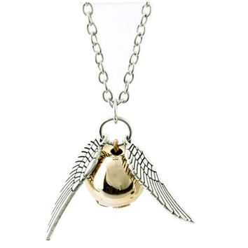 Harry Potter Golden Snitch Quicksilver Necklace