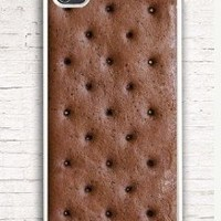Personalized Ice Cream Sandwich Case, for Phone 4 iphone 4s Pattern Print iphone hard case for iphone 4, iphone 4S-plastic Iphone cover