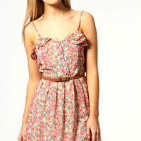 Zoe Back Detail Floral Sun Dress