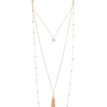 Pendant, Tassel, Layer Necklace