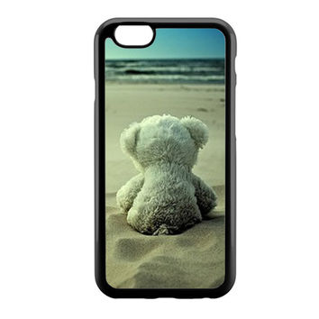Little Teddy Bear in Beach iPhone 6 Case