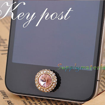 1PCS Bling Crystal Home Button for iPhone 4 4S or iphone 5 Mobile beauty accessories